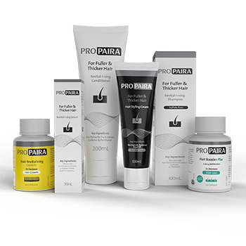 Propaira Hair Loss Shampoo 100ml, Conditioner 200ml, Serum 30ml, Hair Styling Cream 100ml, 60 Hair Revitalising Capsules & 120 Hair Booster Plus Capsules for fuller and thicker hair